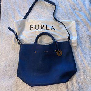 Furla Leather Handbag in Indigo